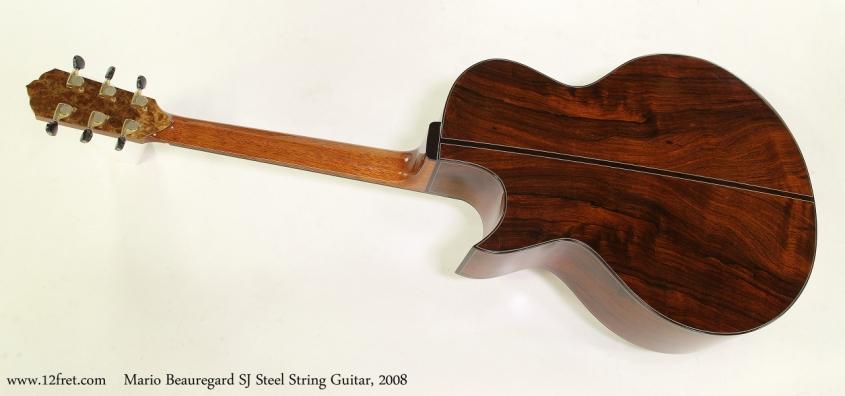 Mario Beauregard SJ Steel String Guitar, 2008   Full Rear View