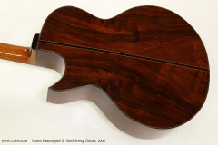 Mario Beauregard SJ Steel String Guitar, 2008   Back View