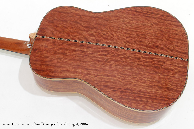 Ron Belanger Bubinga Dreadnought  2004 back