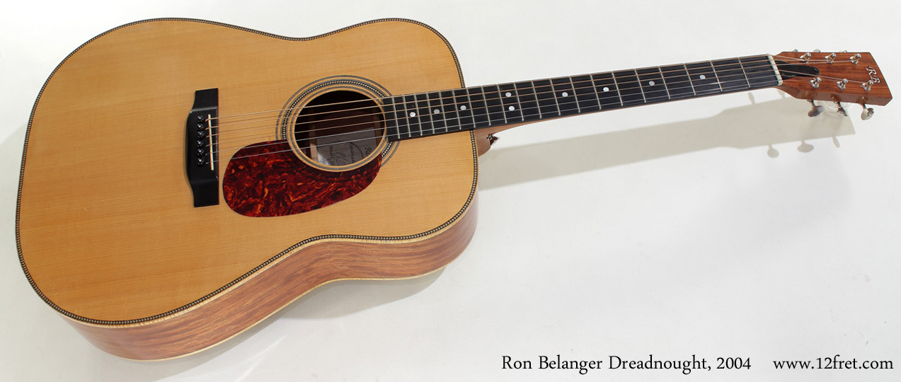Ron Belanger Bubinga Dreadnought 2004 full front view