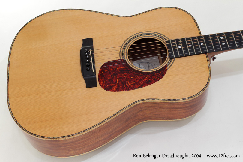 Ron Belanger Bubinga Dreadnought  2004 top