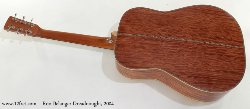 Ron Belanger Bubinga Dreadnought 2004 full rear view