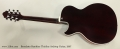 Benedetto Bambino Thinline Archtop Guitar, 2007 Full Rear View