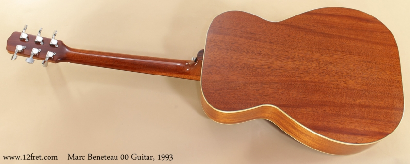 Marc Beneteau 00 Guitar, 1993 full rear view