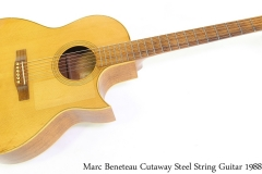 Marc Beneteau Cutaway Steel String Guitar 1988 Full Front View