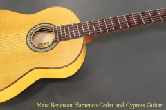 Marc Beneteau Flamenco Cedar and Cypress Guitar, 1999 Full Front View