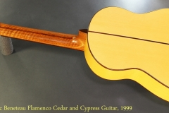 Marc Beneteau Flamenco Cedar and Cypress Guitar, 1999 Full Rear View