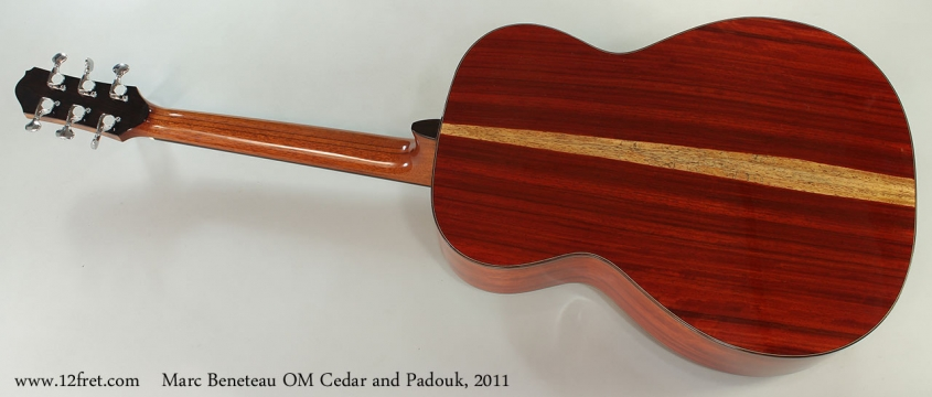Marc Beneteau OM Cedar and Padouk, 2011 Full Rear View