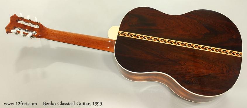 Benko Classical Guitar, 1999 Full Rear View