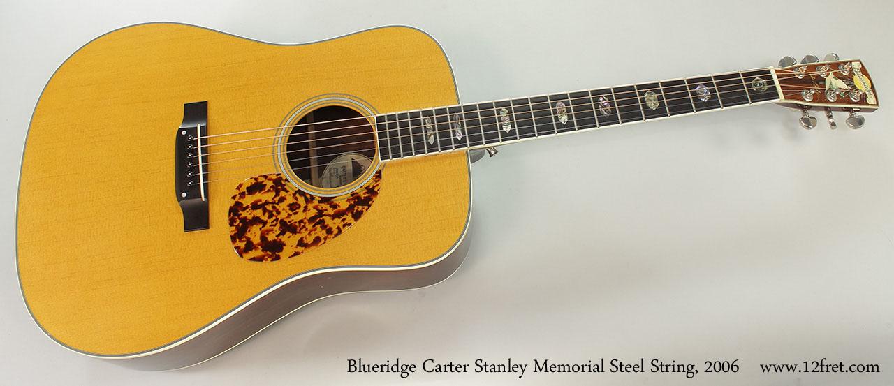 Blueridge Carter Stanley Memorial Steel String, 2006 Full Front View