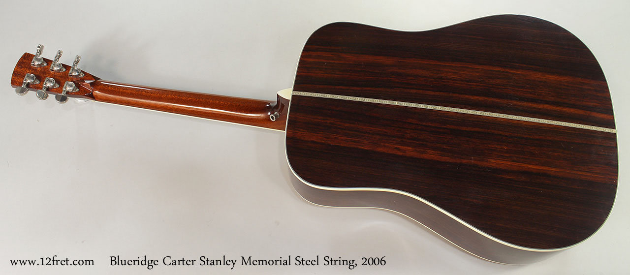 Blueridge Carter Stanley Memorial Steel String, 2006 Full Rear View