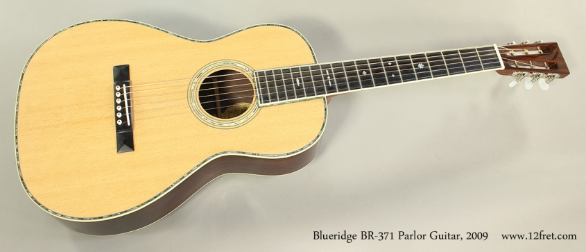 Blueridge BR-371 Parlor Guitar, 2009 Full Front View