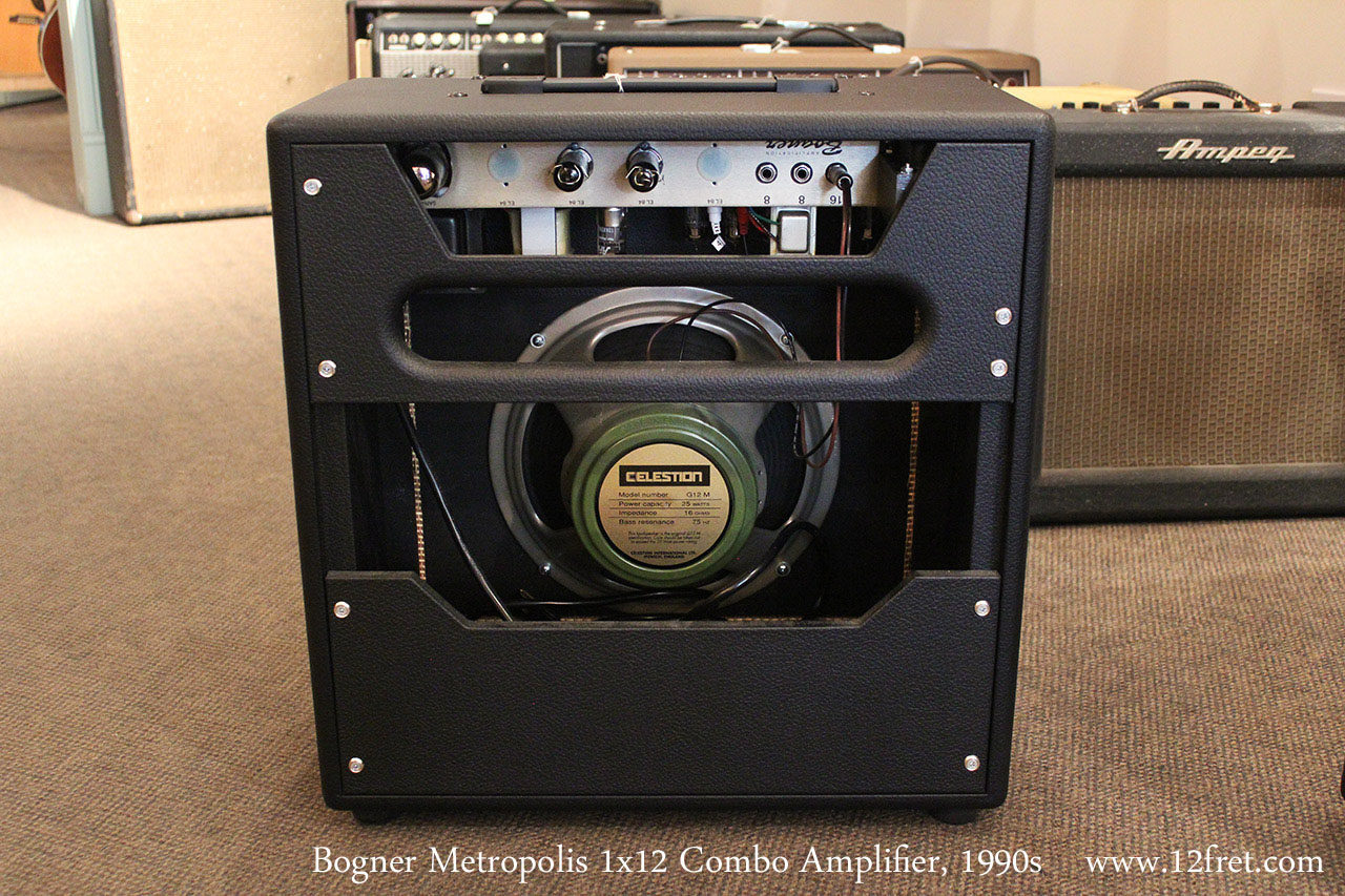 Bogner Metropolis 1x12 Combo Amplifier, 1990s Full Rear View