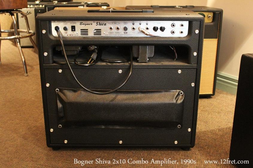 Bogner Shiva 2x10 Combo Amplifier, 1990s Full Rear View