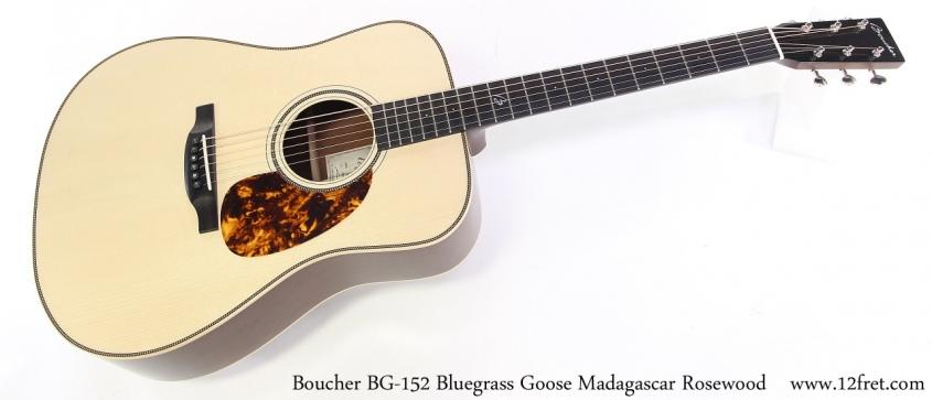 Boucher BG-152 Bluegrass Goose Madagascar Rosewood Full Front View