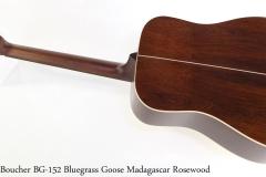 Boucher BG-152 Bluegrass Goose Madagascar Rosewood Full Rear View