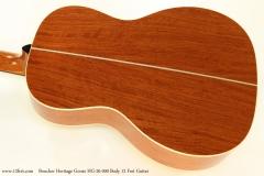Boucher Heritage Goose HG-26 000 Body 12 Fret Guitar  Back View