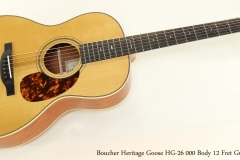 Boucher Heritage Goose HG-26 000 Body 12 Fret Guitar  Full Front View
