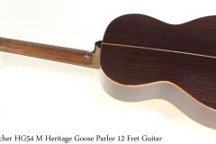 Boucher HG54 M Heritage Goose Parlor 12 Fret Guitar Full Rear View