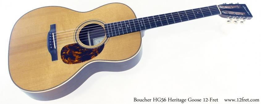 Boucher HG56 Heritage Goose 12-Fret Full Front View