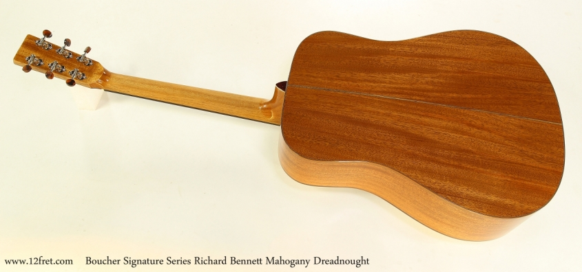 Boucher Signature Series Richard Bennett Mahogany Dreadnought   Full Rear View