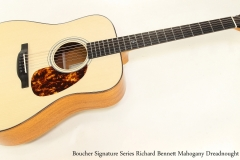 Boucher Signature Series Richard Bennett Mahogany Dreadnought   Full Front VIew