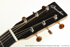 Boucher Signature Series Richard Bennett Mahogany Dreadnought   Head Front VIew
