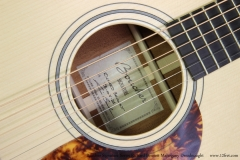 Boucher Signature Series Richard Bennett Mahogany Dreadnought   Label View