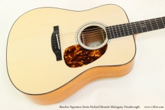 Boucher Signature Series Richard Bennett Mahogany Dreadnought   Top View