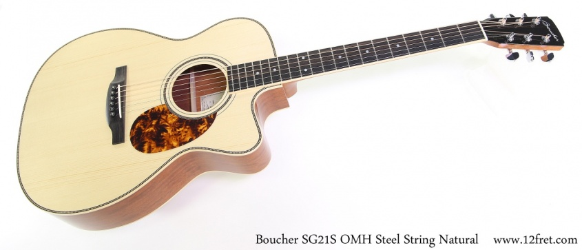Boucher SG21S OMH Steel String Natural Full Front View