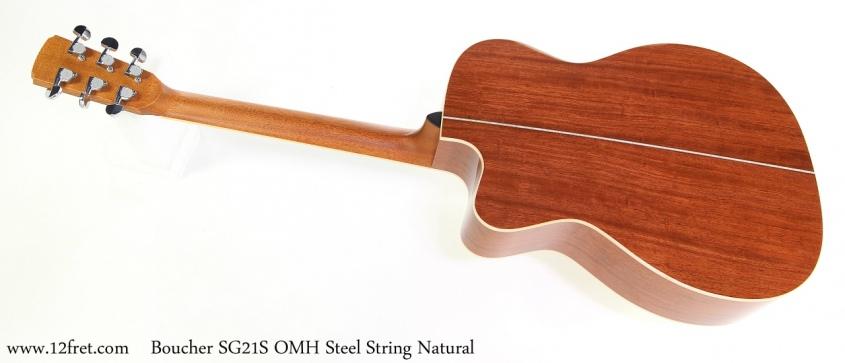 Boucher SG21S OMH Steel String Natural Full Rear View