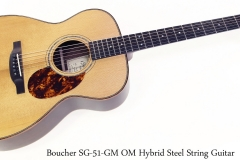 Boucher SG-51-GM OM Hybrid Steel String Guitar Full Front View