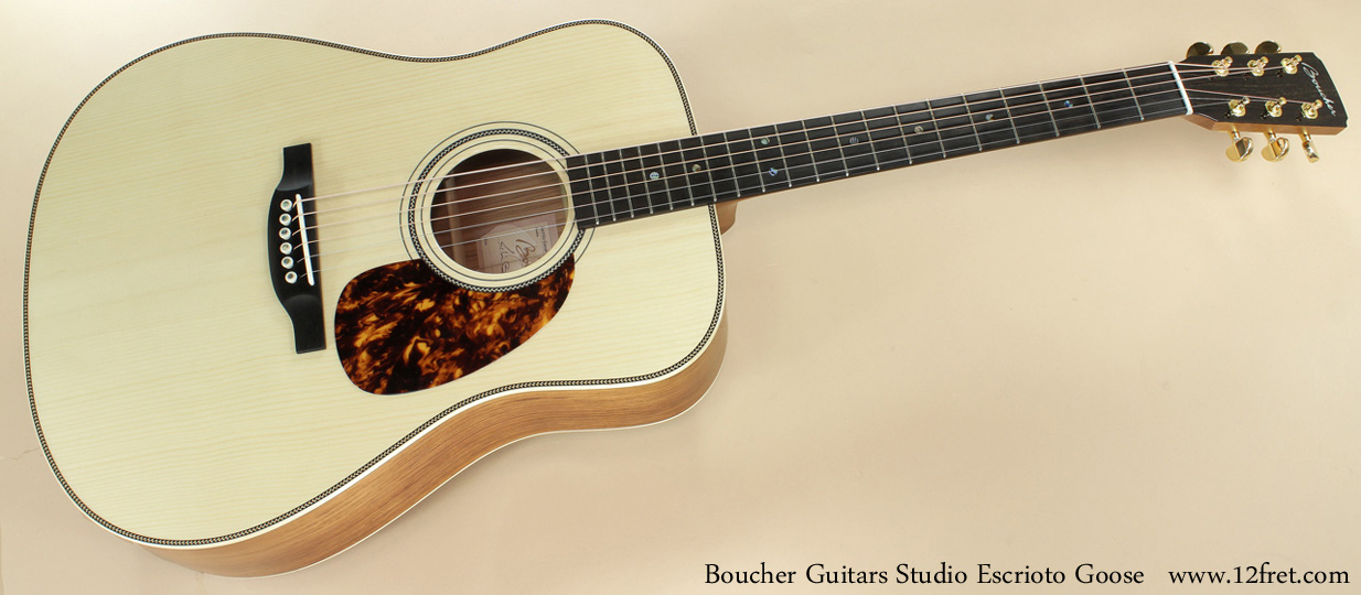 Boucher Guitars Studio Escrito Goose full front view
