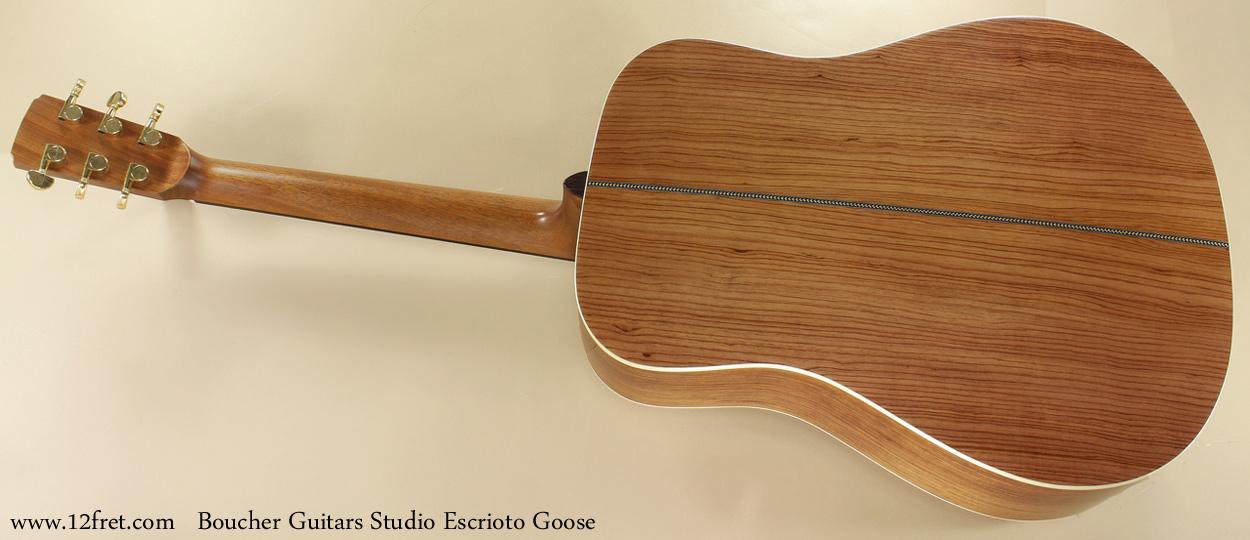 Boucher Guitars Studio Escrito Goose full rear view
