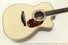 Boucher Studio Goose SG-51 OM Hybrid Cutaway Rosewood 14 Fret Guitar   Top View