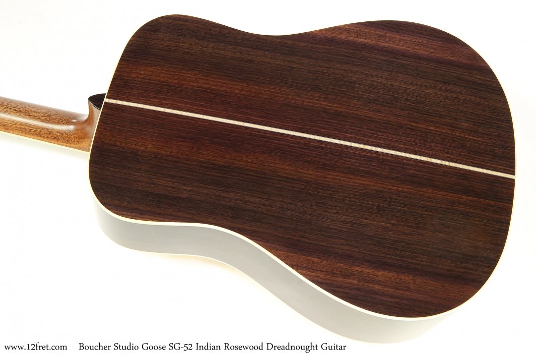Boucher Studio Goose SG-52 Indian Rosewood Dreadnought Guitar   Back View