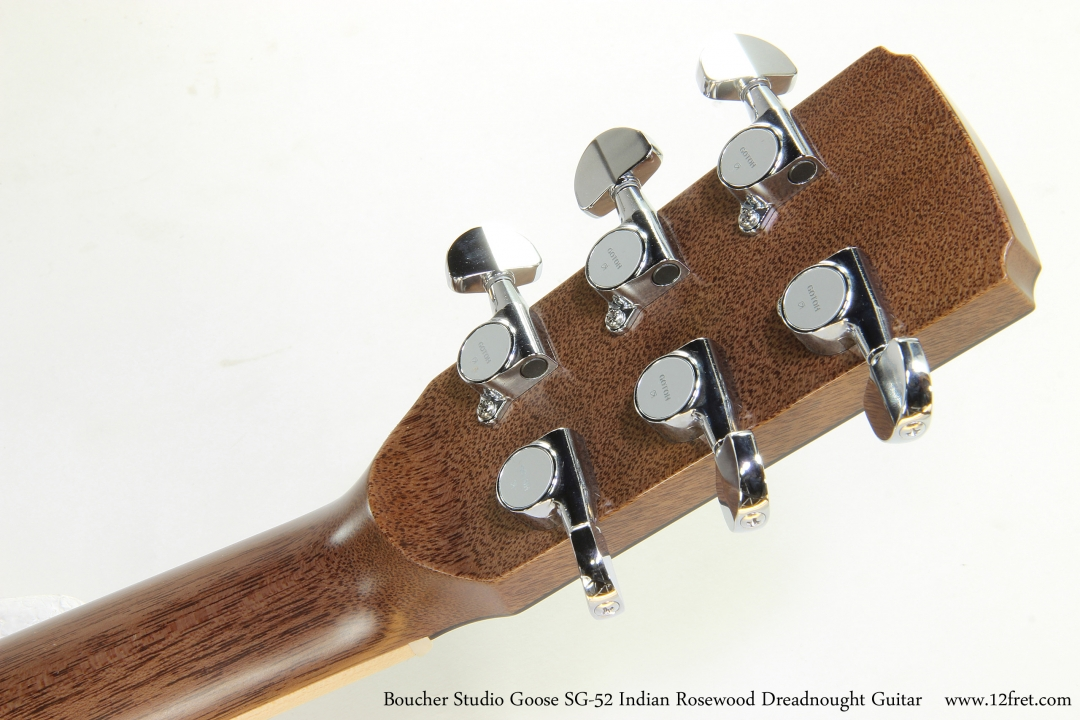 Boucher Studio Goose SG-52 Indian Rosewood Dreadnought Guitar   Head Rear View