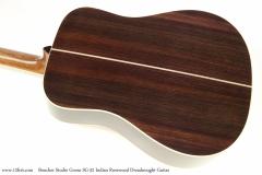 Boucher Studio Goose SG-52 Indian Rosewood Dreadnought Guitar   Back View
