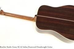 Boucher Studio Goose SG-52 Indian Rosewood Dreadnought Guitar   Full Rear View
