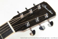 Boucher Studio Goose SG-52 Indian Rosewood Dreadnought Guitar   Head Front View