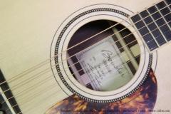 Boucher Studio Goose SG-52 Indian Rosewood Dreadnought Guitar   Label View