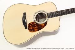 Boucher Studio Goose SG-52 Indian Rosewood Dreadnought Guitar   Top View