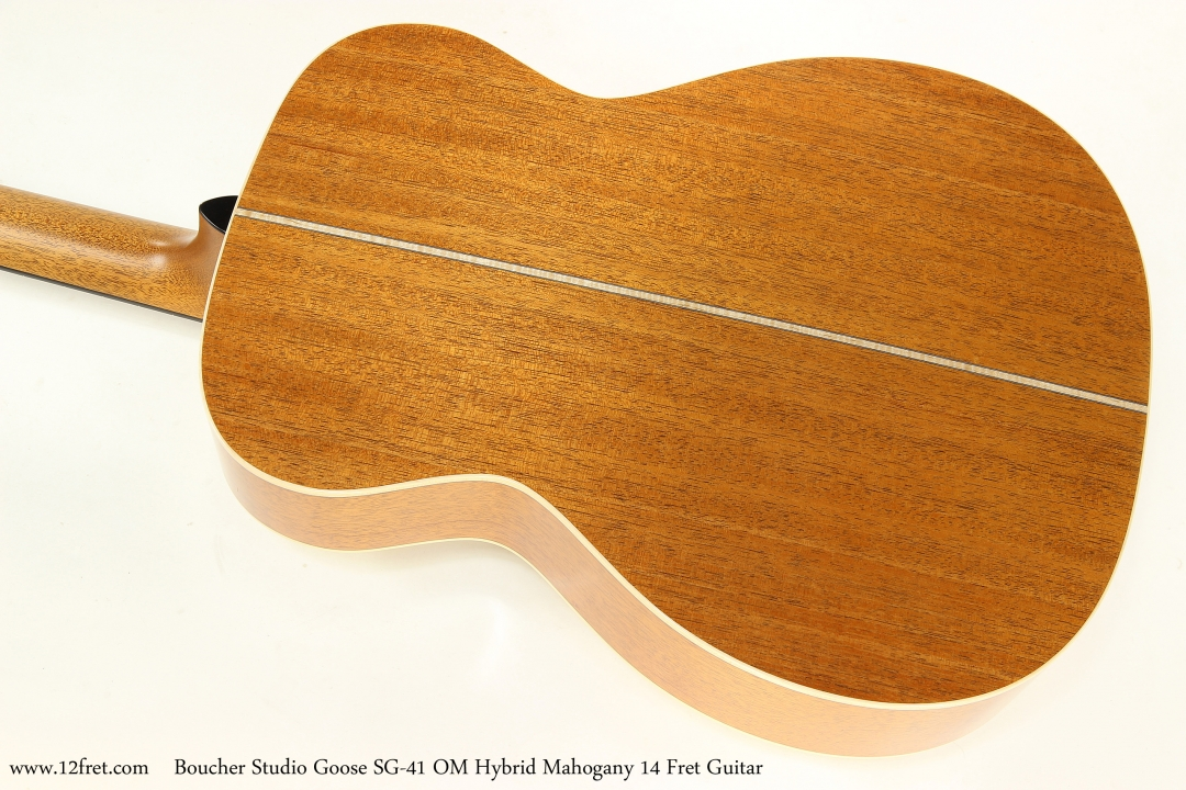 Boucher Studio Goose SG-41 OM Hybrid Mahogany 14 Fret Guitar  Back View