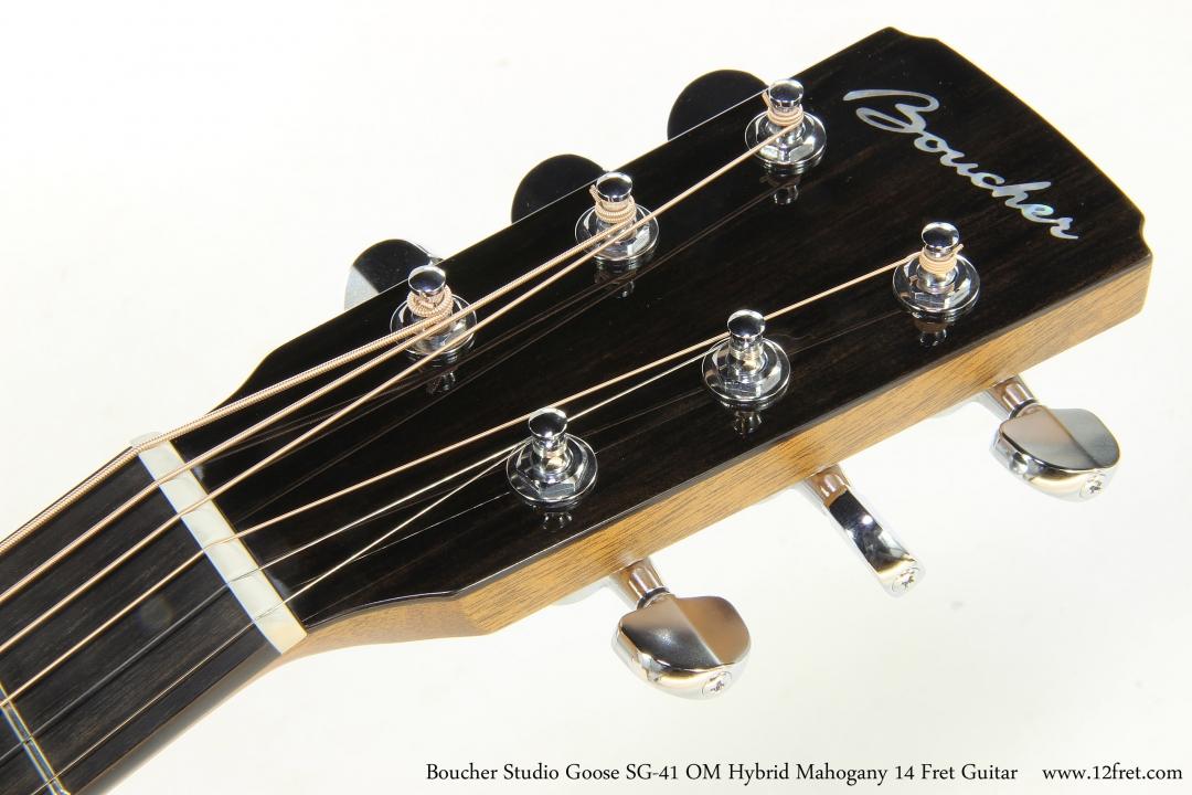 Boucher Studio Goose SG-41 OM Hybrid Mahogany 14 Fret Guitar  Head Front View