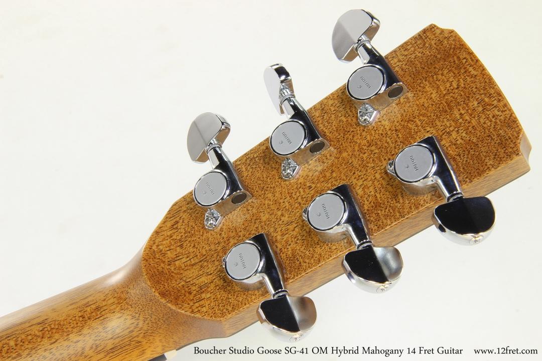 Boucher Studio Goose SG-41 OM Hybrid Mahogany 14 Fret Guitar  Head Rear View