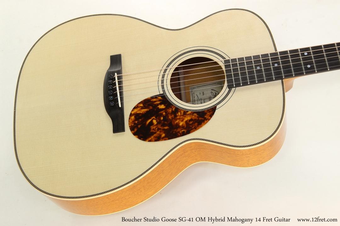 Boucher Studio Goose SG-41 OM Hybrid Mahogany 14 Fret Guitar  Top View