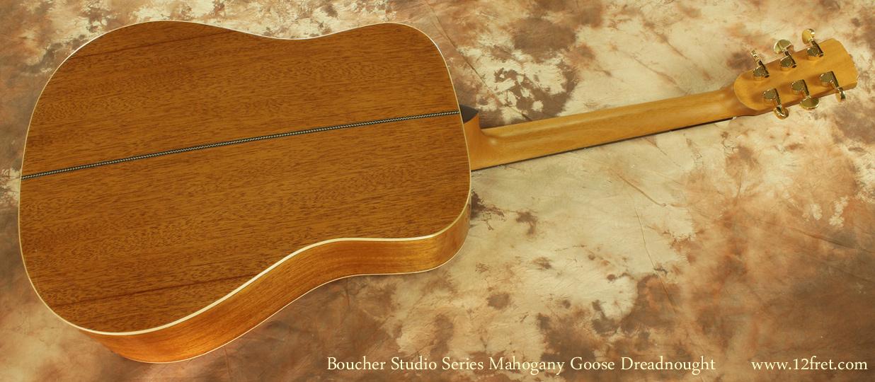 Boucher Studio Mahogany Goose Dreadnought full rear view