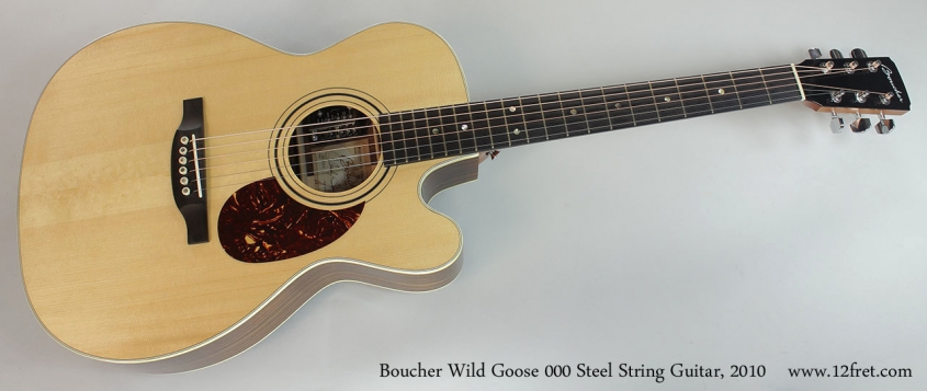 Boucher Wild Goose 000 Steel String Guitar, 2010 Full Front View