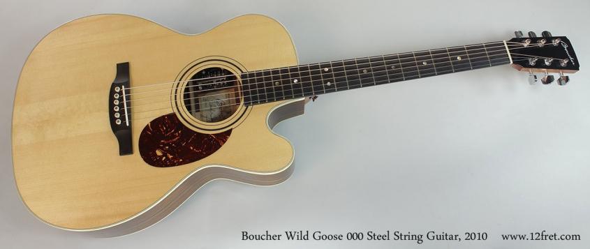 Boucher Wild Goose 000 Steel String Guitar, 2010 Full Front View