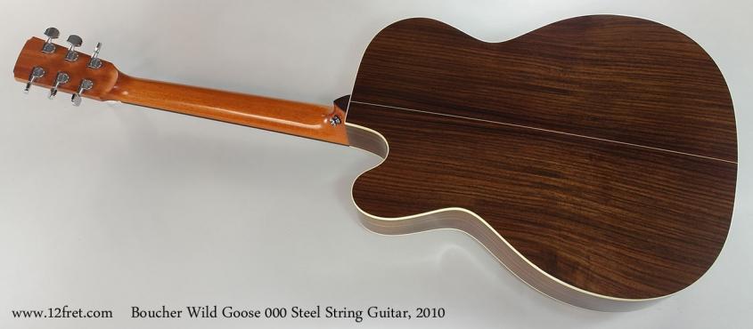 Boucher Wild Goose 000 Steel String Guitar, 2010 Full Rear View